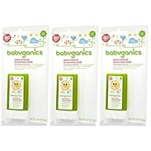 Babyganics Sunscreen Stick SPF 50, 0.47 Ounce, 3 Pack