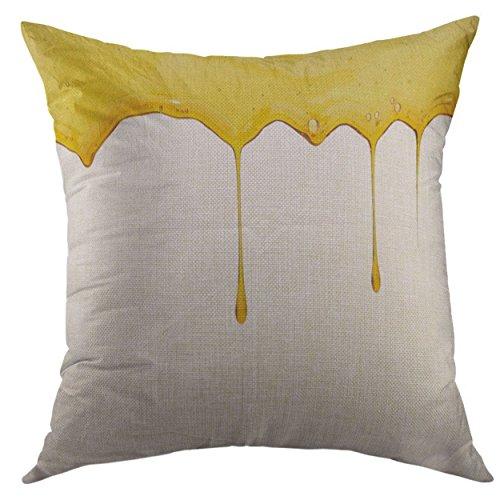 Mugod Decorative Throw Pillow Cover Green Cannabis Hemp Oil Silver Drop Home Decor Pillow Case 18x18 Inch