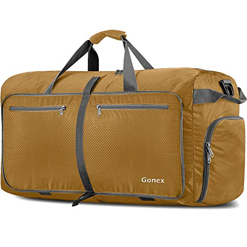 Gonex 150L Extra Large Duffle Bag, Packable Travel Luggage Shopping XL Duffel Gold