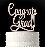 Rubies & Ribbons Congrats Grad Gold Metal Graduation Cake Topper Party...