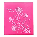 Home leather embroidery album 6 inch (4R) 360 inserts pocket album / classical album couple baby record book / (3431.56cm) ( Color : Rose red )