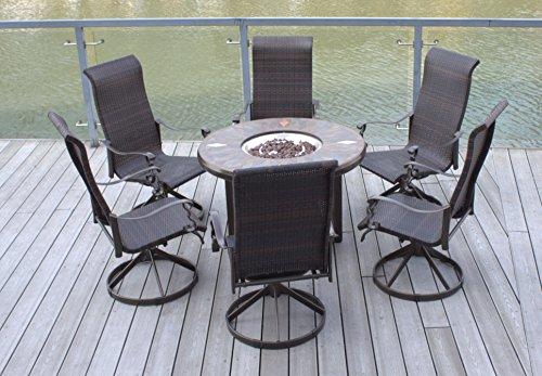 - Pebble Lane Living 7pc Swivel Rocking Wicker Patio Furniture 42