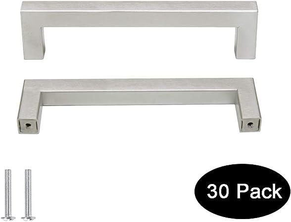 2PCs Top Quality Kitchen Cabinet Cupboard door Drawer Handle Pulls satin nickel