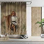 ALUONI an English Cocker Spaniel with a Sharptailed Grouse Shower Curtains Set with Hooks,054446 for Shower,65''W x 71''H 7