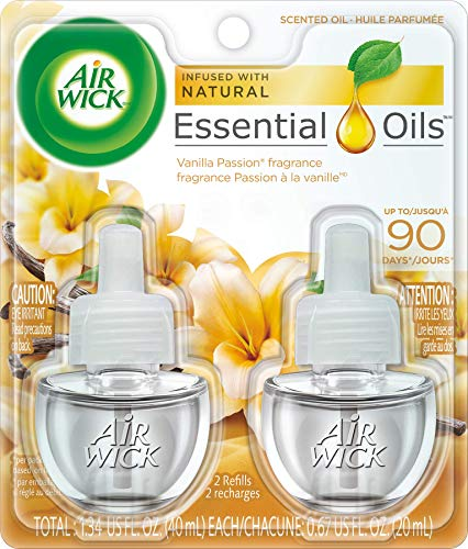 Air Wick Scented Oil Air Freshener, Vanilla Passion, 2 Refills, 0.67 Ounce (Packaging May Vary)