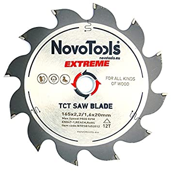 NOVOTOOLS EXTREME Kreiss/ägebl/ätter 160 x 20mm x 12 Z/ähne zum S/ägen in Holz f/ür Handkreiss/ägen Top Qualit/ät