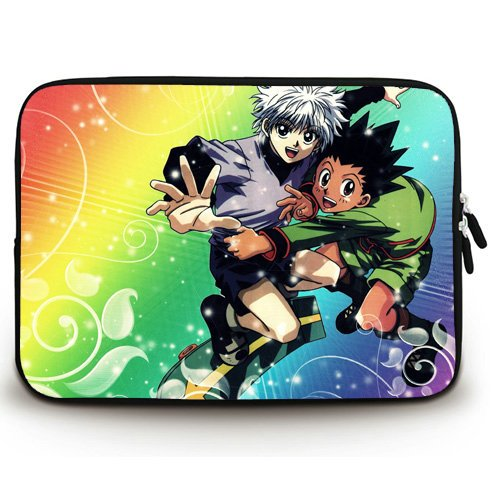 792f9edf4ca Anime Laptop Sleeve with Hunter X Hunter Patterns Waterproof Canvas Fabric  15 15.6 Inch Laptop Bag Case Cover(Twin Sides)