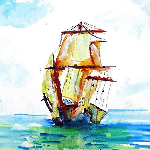 Betsy Drake Tall Ship Coaster Set of 4