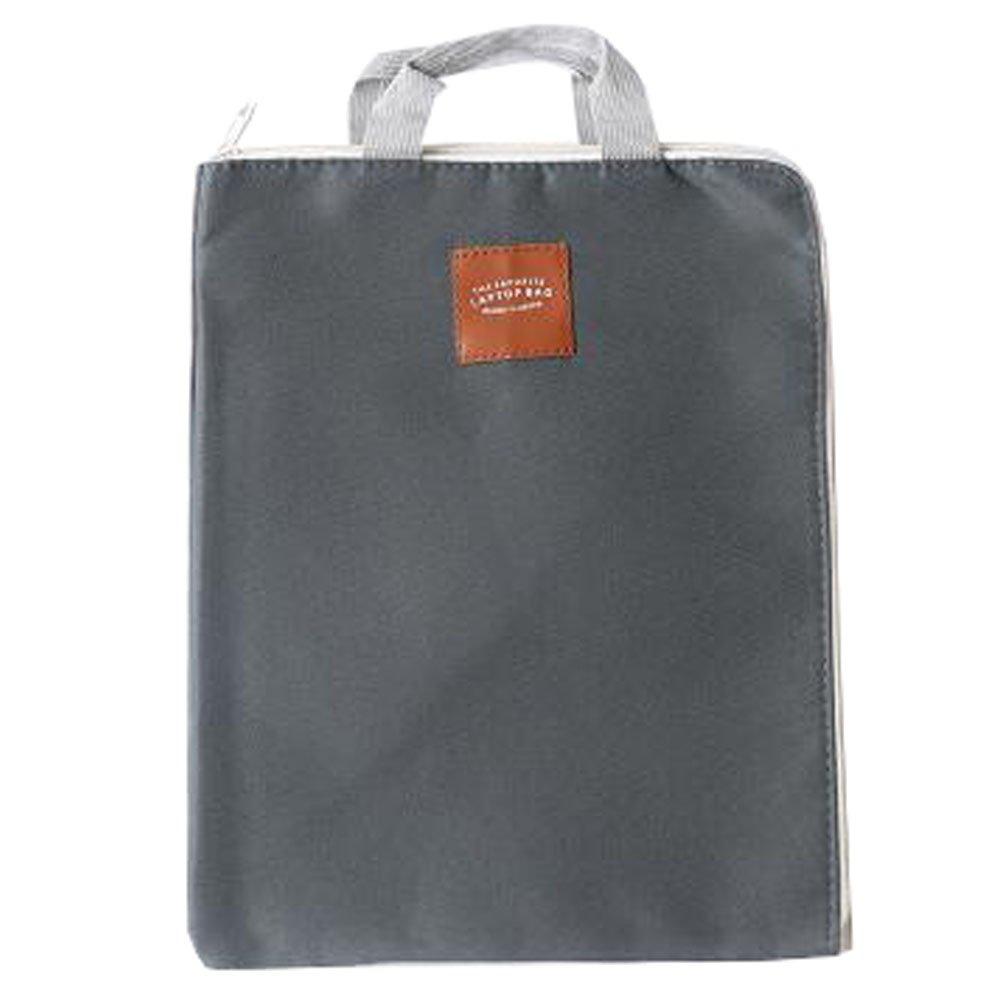 Cute File Bag Stationery Bag Pouch File Envelope for Office/School Supplies, Handbag Dark Gray