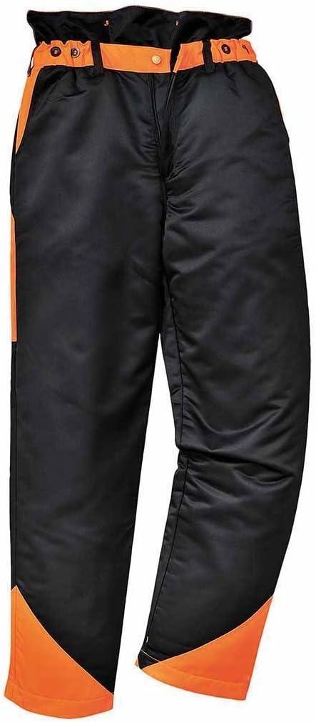 Portwest CH11 - Pantalones de motosierra, color Negro, talla Large