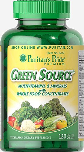 Puritan's Pride Green Source Multivitamin & Minerals-120 Caplets