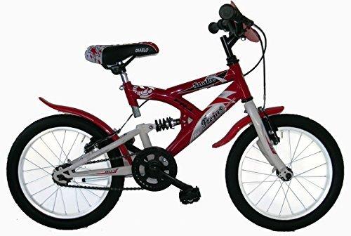 Frejus SUSPENSIÓN Trasera 16 - Bicicleta de montaña susp/Tras. para Unisex, 1 velocidades, Cuadro Acero, Rojo