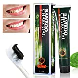 Bamboo Charcoal Teeth Whitening Activated Charcoal Teeth Whitening Toothpaste , Bamboo Charcoal Toothpaste, Tooth Whitening Toothpaste, Mint Toothpaste,Daily Tooth Protection Toothpaste for Whiter Stronger Healthier Teeth 120g