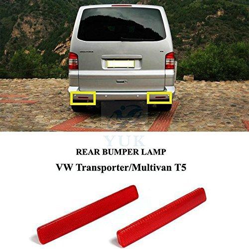 Yuk parachoques trasero marcador reflectante reflector l/ámpara de luz para VW Transporter T5/MK V 03/ /09