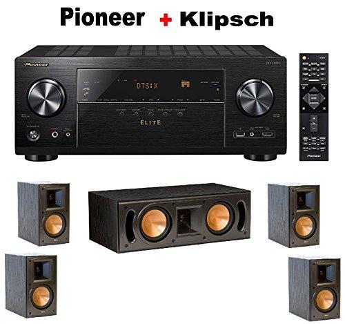 گیرنده کامپوننت صوتی و تصویری Pioneer Elite Black (VSX-LX302) + جفت قفسه کتاب مرجع Klipsch RB-51 II + بسته نرم افزاری بلندگو مرکز Klipsch RC-42 II