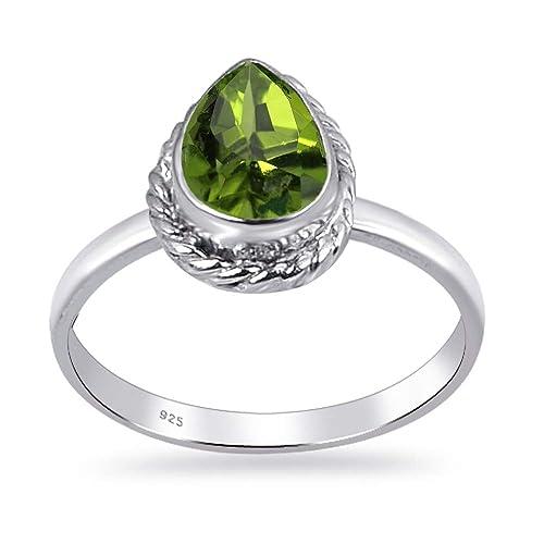 Anillo de bodas de plata de ley 925 para mujer | Orchid ...
