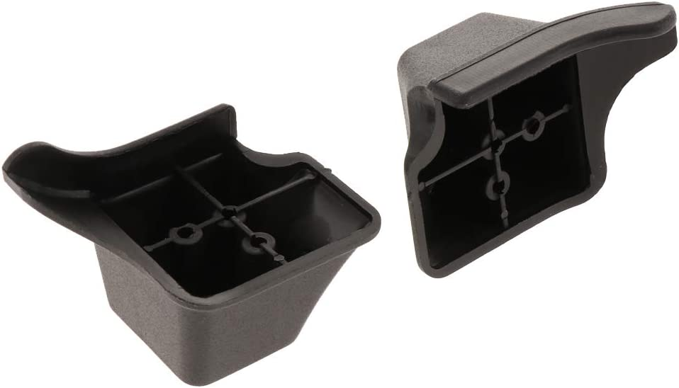 Baosity 1 Pair Stud Screw Mount Plastic Luggage Feet Foot Pad Black
