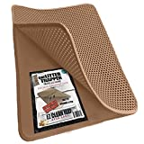 iPrimioJUMBO SIZE Cat Litter Trapper - EZ Clean (Brown/Tan) - 32 inches by 30 inches / Super BIG. Exclusive Water Proof Layer and Puppy Pad Option. Patent Pending.