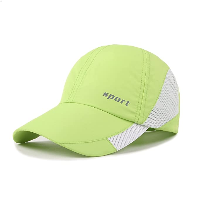Outdoor Sport Baseball cap Light Weight Breathable Run Hat (Green)