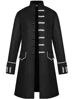PaulJones Chaqueta de Hombre Vintage Retro Coat Steampunk ...