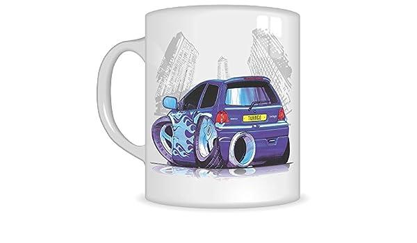 Regalos de Koolart k2744-mg dibujos animados de Renault Twingo Tuning - Caricatura púrpura para hombre de regalo de taza de Renault (tazas): Amazon.es: ...