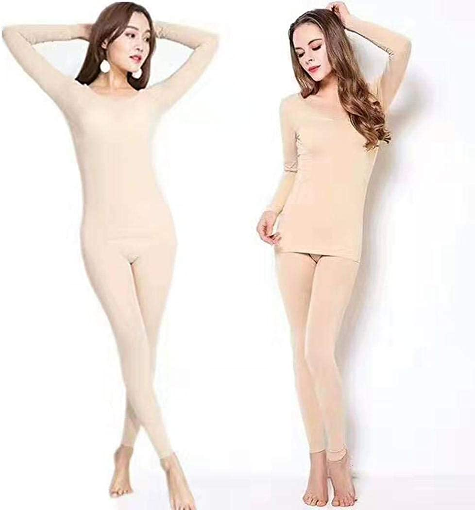 New Women/'s Nylon Spandex Long Underwear Solid Color One Size