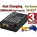 Timetech Replace LP-E17 Battery for Canon EOS M3 M5 M6 77D 200D 750D 760D 800D 1800mAh