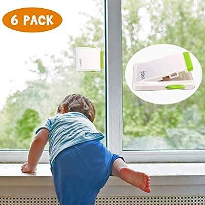 6 Pack Sliding Door Lock for Child Safety,Lamdo Baby Proof Locks for Sliding Window Cabinet Closet or Patio door,No Tool or Screws Needed