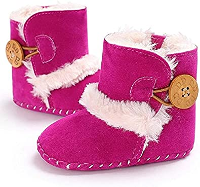 Meeshine Winter Warm Baby Boots Premium Soft Sole Prewalker Newborn Infant Boy Girl Crib Shoes Snow Boots