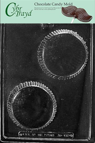 Cybrtrayd Life of the Party AO137 Giant Peanut Butter Cup All Occasions Chocolate Candy Mold in Sealed Protective Poly Bag Imprinted with Copyrighted Cybrtrayd Molding Instructions