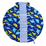 Itzy Ritzy Wrap and Roll Infant Carrier Arm Pad and Tummy Mat, Dino-Mite
