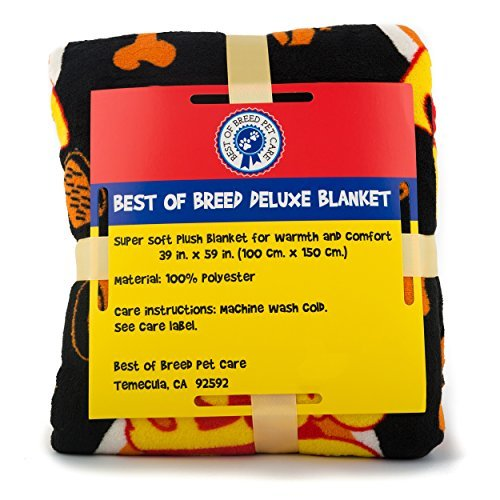 Deluxe Dog Blanket, 39x59'', Large, Super Soft Fleece, ''Top Dog'' Design, Machine-Washable, Perfect Gift for Dogs & Dog Lovers by Best of Breed Pet Care (Image #9)