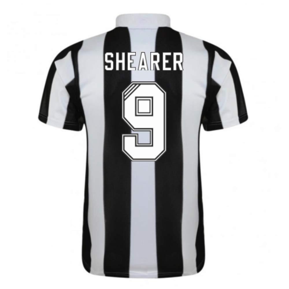 1996-97 Newcastle Home Football Soccer T-Shirt Trikot (Alan Shearer 9)