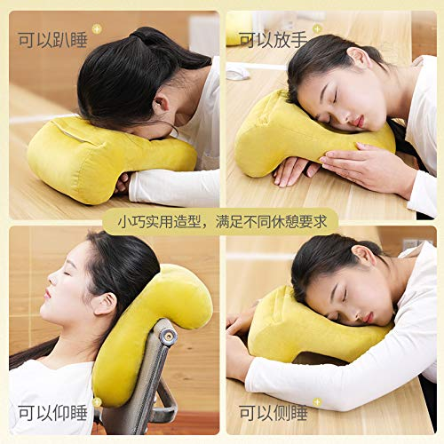 Office Artifact 2019 New Multifunctional Sleep Pillow Sleeping Hollow Plush Pure Color Pillow Sleeping Pillow