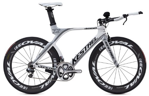 Kestrel 2014 4000 Dura Ace Di2 Road Bike, 57cm/X-Large, Matte Silver/White Cycle Force Group