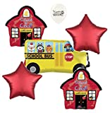 School Bus Party Supplies Balloon Bouquet Bundle