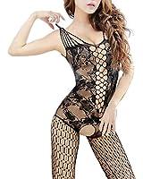 iecool Women's Sexy Nightwear Open Crotch Fishnet Bodysuit Body Stocking