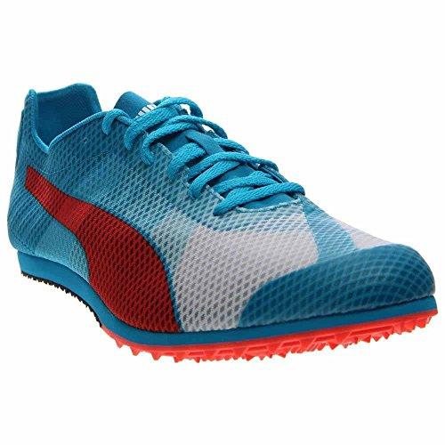 PUMA Men's Evospeed Star V4 Sneaker, White/Atomic Blue/Red Blast, 10 D (Atomic Star)