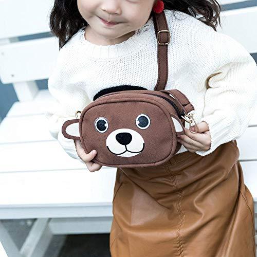 animali tracolla Prosperveil borse Brown con di della ragazze Le fumetto del stampa le a Velvet si velluto animali del vestono q0dtnfwET
