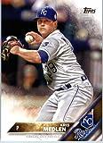 2016 Topps Series 2 #691 Kris Medlen Kansas City Royals Baseball Card in Protective Screwdown Display Case