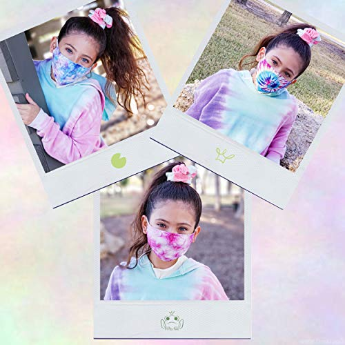 2 PCS Childrens Rainbow and Unicorn Face Masks for Kids, Reusable Cotton Cloth Washable Kid Mask with Filter Pocket for…