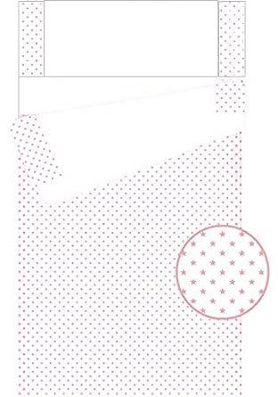 Saco nórdico para cuna 60x120 cm con relleno incluido y con fuelle Estrellas Rosa: Amazon.es: Ropa y accesorios