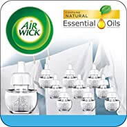 Air Wick Plug In Scented Oil 10 Refills, Fresh Linen, Same Familiar smell Of fresh laundry, Eco Friendly, Esse