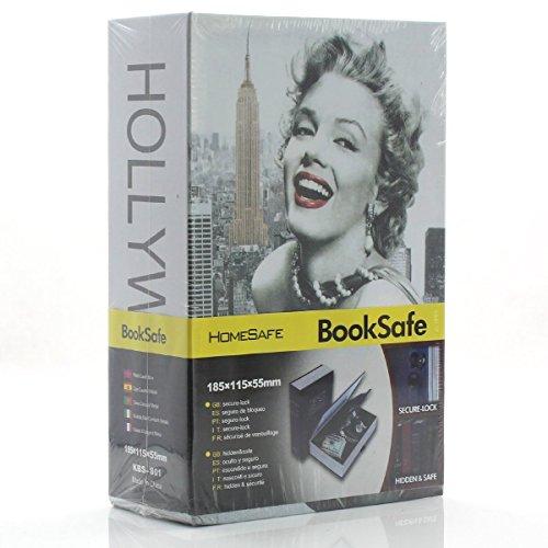 Diversion Book Safes, Kework M Size Book Safe, Diversion Hidden Book Safe With Inside Strong Metal Case and Key Lock, 180 x 115 x 55 mm (Marilyn Monroe) by Kework