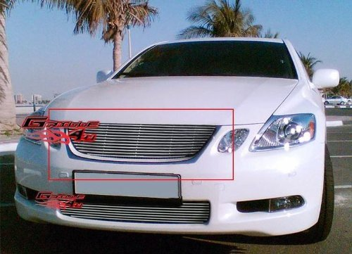APS T65453A Polished Aluminum Billet Grille Bolt Over for select Lexus GS300 Models