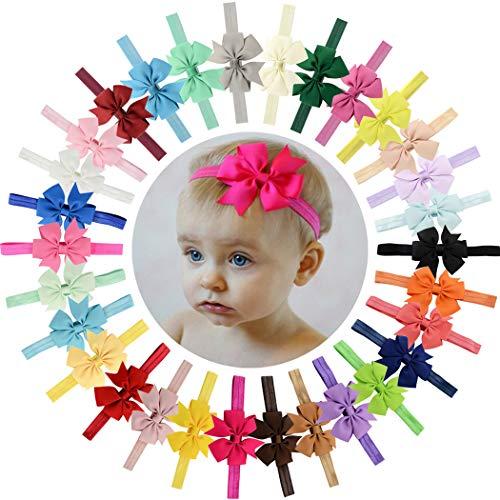 Grosgrain Ribbon Band - Baby Girls Headbands 30Pcs 3