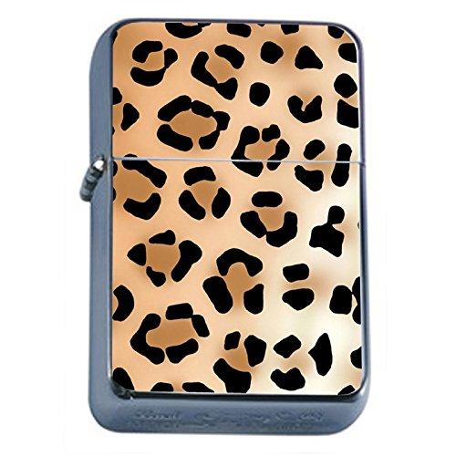 Wild Animal Prints Cheetah Flip Top Oil Lighter S2 Smoking Cigarette Smoker Includes Silver Case