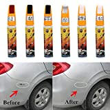 Glumes Permanent Paint pens for Car, Universal Exact Match Scratch Fix All-in-1 Touch-Up Paint (Pearl White)
