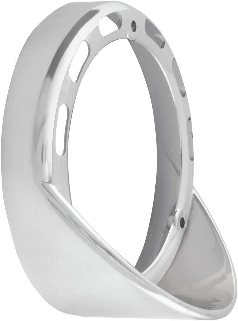 GG Grand General 78369 Chrome Plastic Rim w//Visor Upside Down for 4 Inches Double LED Light