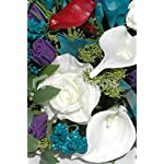 Mixed-Calla-Lily-Rose-Wedding-Top-Table-w-Berries-Freesia